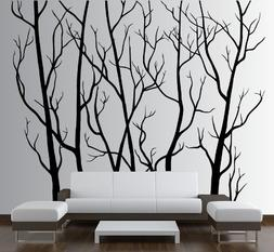 Large Wall Vinyl Tree Forest Decal Removable Sticker with Bi