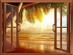Wall26 - Sunrise on the Oceanside Removable Wall Sticker / W