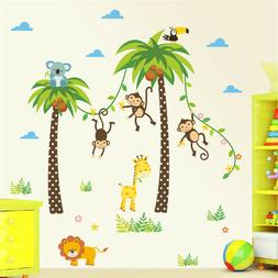 WALLIES PALM TREE wall sticker MURAL decal tropical leaves r