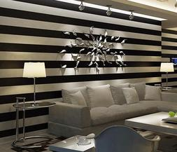 Wallpaper For Living Room Minimalist Designs Flocked Stripe