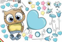 Wallstickers for baby, kids wall decor, birtday party, owl 9