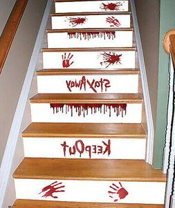 WATCH YOUR STEP Halloween Stair wall stickers 11 decals scar