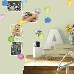 RoomMates Watercolor Dots Peel And Stick Wall Decals