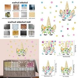 Watercolor Stars Dots Wall Decal Peel & Stick Sticker Gifts