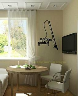 Wall Decor Plus More WDPM3504 Hooked on Fishing with Pole Wa