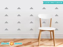 Wide Triangle Fabric Wall Decals - Set of 48 Wide Triangles