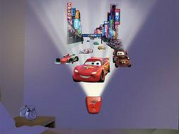 Wild Walls DISNEY CARS wall stickers 11 decals with LIGHT &