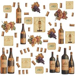 WINE BOTTLES 56 BiG Wall Stickers Dining Room Decor Kitchen
