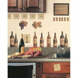 WINE TASTING Wall Decals Bottles Grapes Labels Stickers Kitc