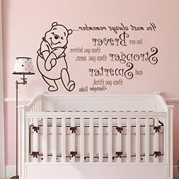 Winnie the Pooh Quote Wall Decal Vinyl Sticker Decals Quotes