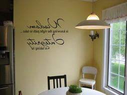 WISDOM IS KNOWING INTEGRITY VINYL WALL DECAL STICKER QUOTE I