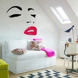 Woman Face Wall Art Stickers For Bedroom Home  Decor Decal R