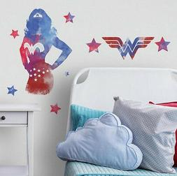 WONDER WOMAN watercolor wall stickers 9 decals MURAL superhe