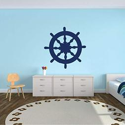 Wooden Ship Wheel Wall Decal - Personalized Steering Wheel f