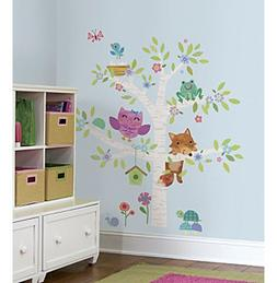 RoomMates Woodland Baby Birch Tree Peel & Stick Giant Wall D