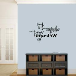 Words For Welcome Wall Decal - Entryway, Welcome, Family, Li