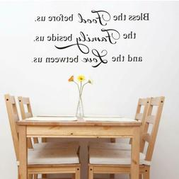 Words Quote Kitchen Dining Room Wall Art Sticker Bless The F
