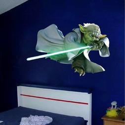 Yoda Jedi Star Wars Wall Decal Mural for Kids Room From Prim