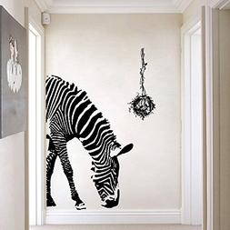 Zebra Wall Decal - Wildlife Wall Stickers - Black and White